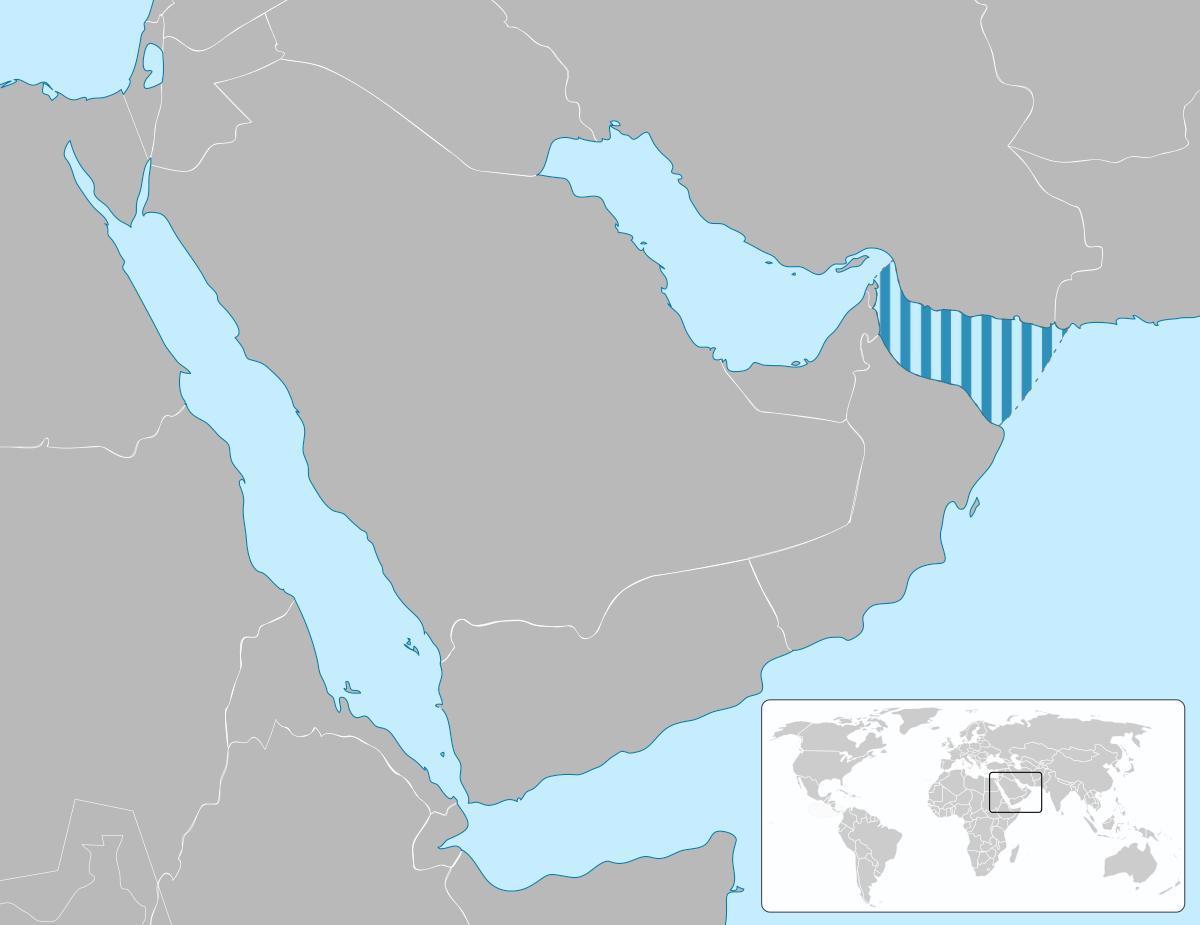 Sea Of Oman Kort Kort Over Havet Oman Det Vestlige Asien Asien